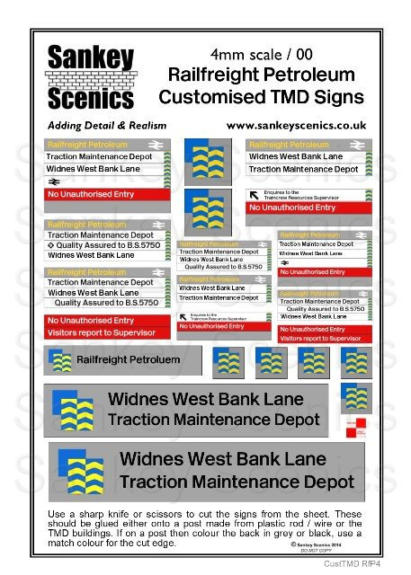 4mm Customised TMD Signage Railfreight Petroleum Sector Combination