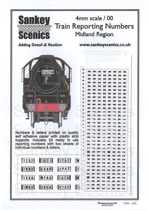 4mm Train Reporting Numbers Midland Region