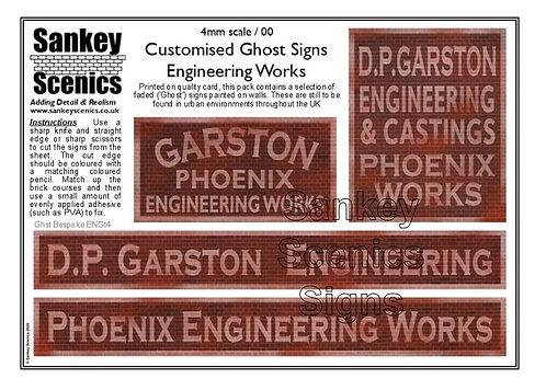 4mm Customised Ghost Signs - Engineering Works