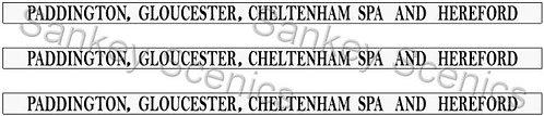 4mm GWR Destination Boards: Paddington, Gloucester, Cheltenham Spa & Hereford