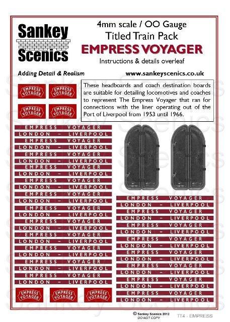 4mm Titled Train: Empress Voyager