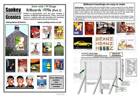 2mm Billboards 1970s Pack 2