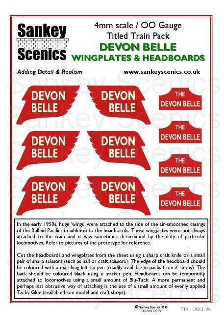4mm Titled Train: Devon Belle Wings