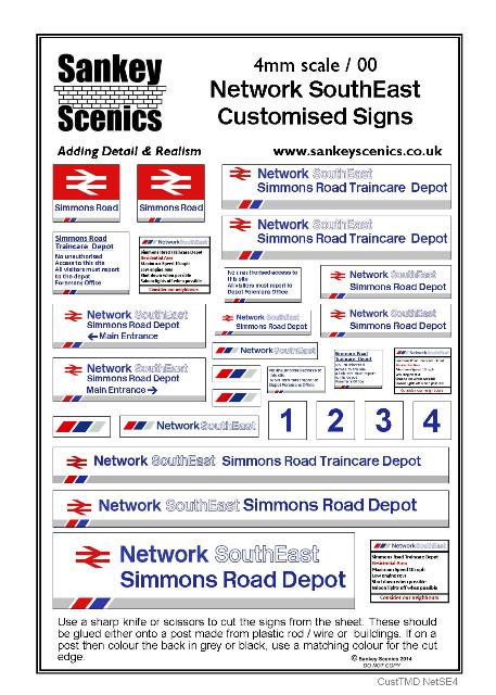 4mm Customised TMD Signage BR Network SouthEast Depot Combination