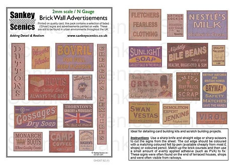 2mm Brick Wall Advertisements Pack 1
