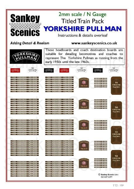 2mm Titled Train: Yorkshire Pullman
