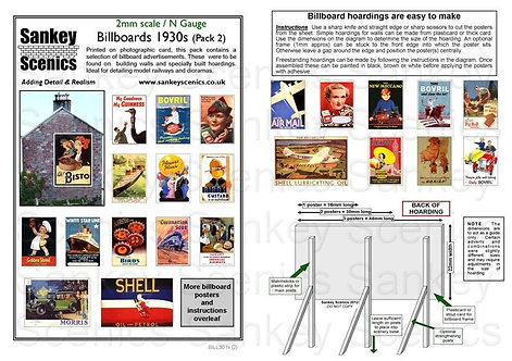 2mm Billboards 1930s Pack 2