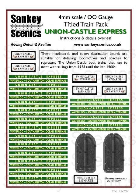 4mm Titled Train: Union-Castle Express