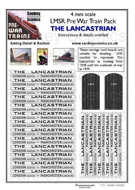 4mm Pre-war Titled Train: The Lancastrian
