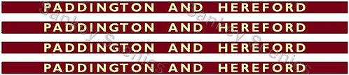 4mm BR Hawksworth Destination Boards: Paddington & Hereford