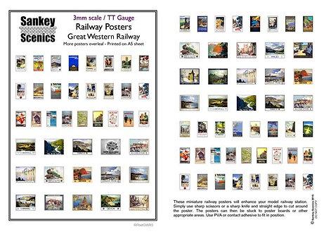 3mm TT Great Western Railway Posters