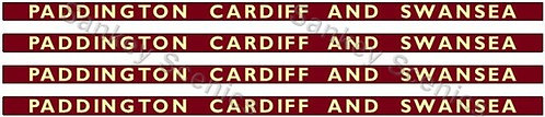 4mm BR Hawksworth Destination Boards: Paddington, Cardiff & Swansea