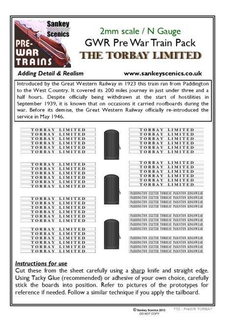 2mm Pre-war Titled Train: Torbay Limited