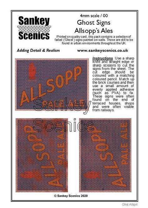4mm Ghost Signs - Allsopp's Ales