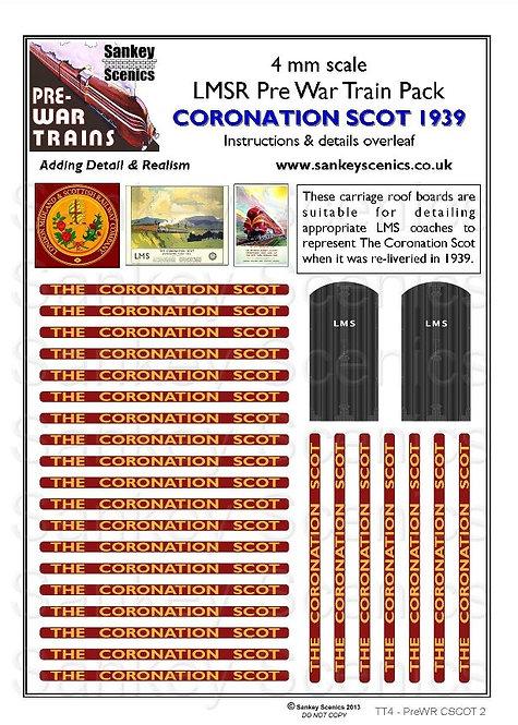 4mm Pre-war Titled Train: The Coronation Scot 1939