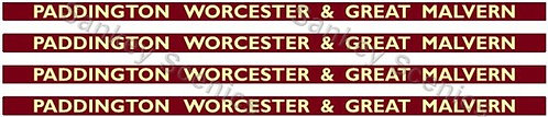 4mm BR Hawksworth Destination Boards: Paddington, Worcester & Great Malvern