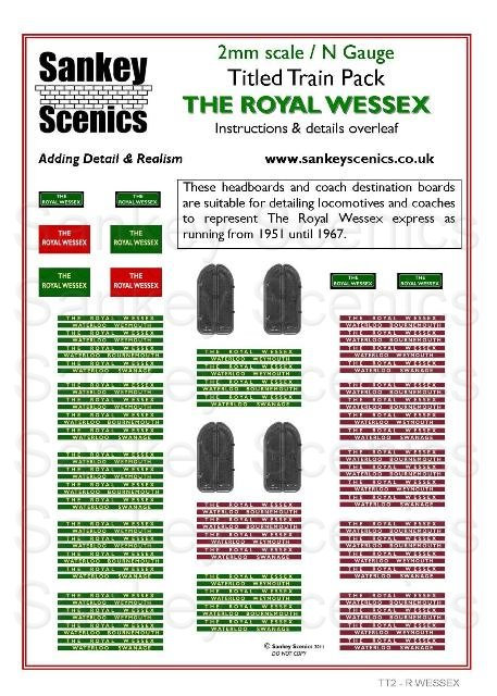 2mm Titled Train: The Royal Wessex