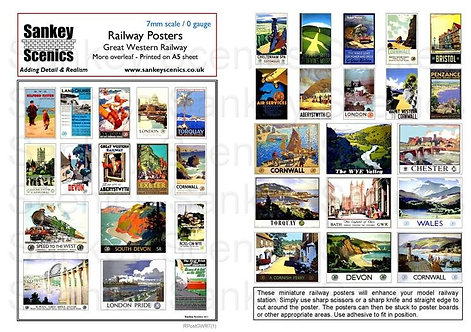 7mm Great Western Railway Posters