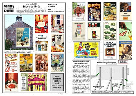 4mm Billboard Posters 1960s Pack 1