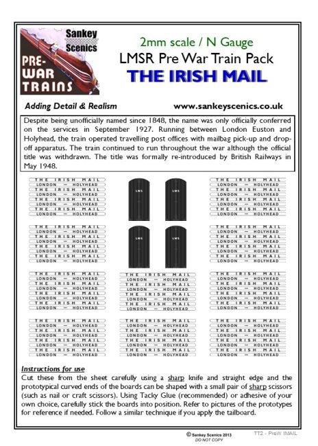 2mm Pre-war Titled Train: The Irish Mail