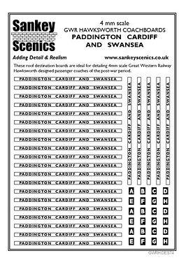 4 mm Scale GWR Boards Hawksworth Padding