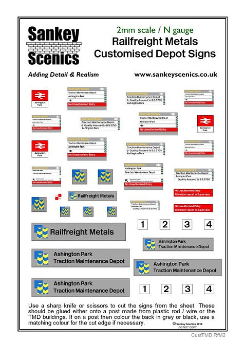 2mm Customised TMD Signage BR Railfreight Metals Sector