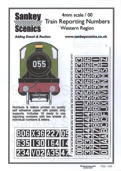 4mm Train Reporting Numbers Western Region
