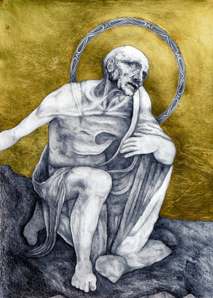 st Jerome with gold