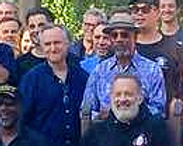 with Tom Hanks, Joe Morton, and members of the HENRY IV company (LA, 2018)