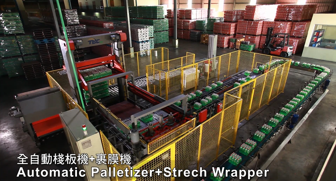 020. Automatic Palletizer & Strech Wrapper
