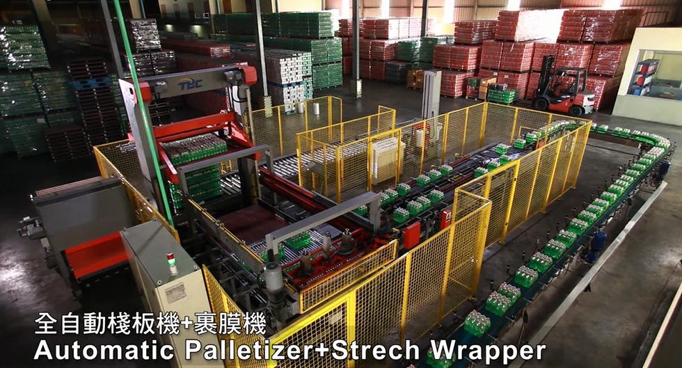 020. Automatic Palletizer & Strech Wrapper