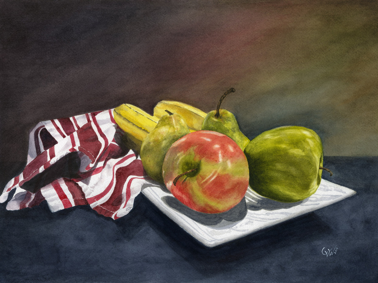 A Casual Medley (original Watercolor)_1