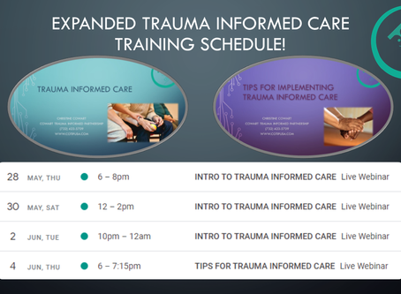 Due to Popular Demand, Training Expanded to Later and Weekend Options!