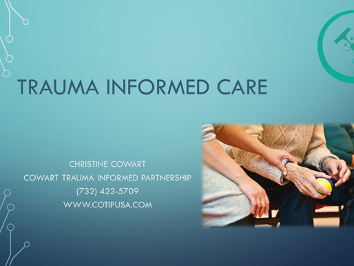 Join us for Trauma Informed Care Training this Thursday!