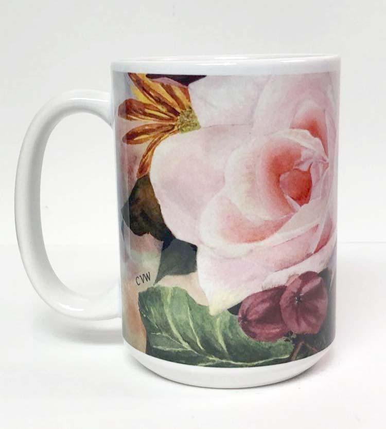 Pink Rose Coffee Mug_1