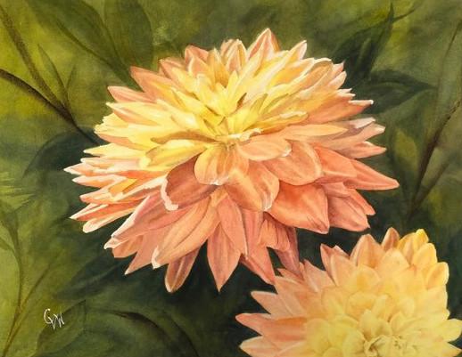 Dahlia Delight - original watercolor_1
