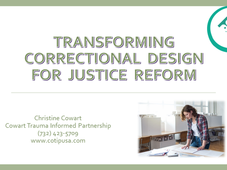 Register Now! Christine and Boston Architectural College Faculty Address Correctional Design!
