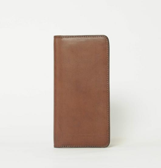 long wallet -dark brown