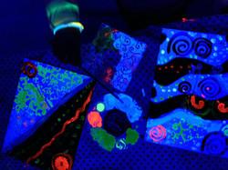 UV glow in the dark party