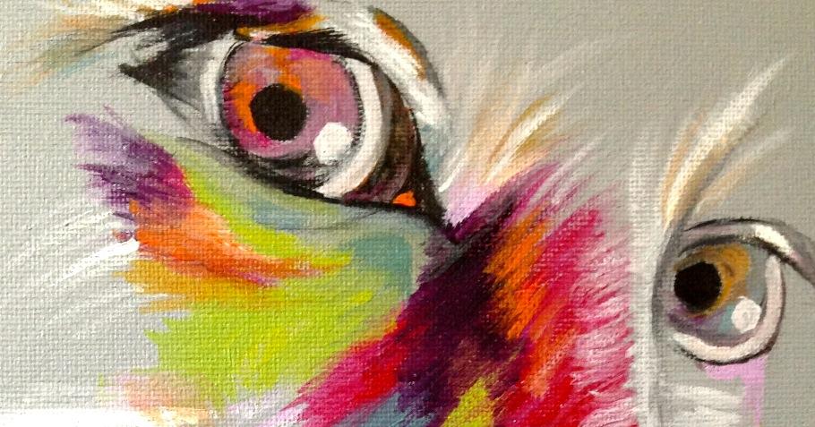 acrylic on canvas portrait