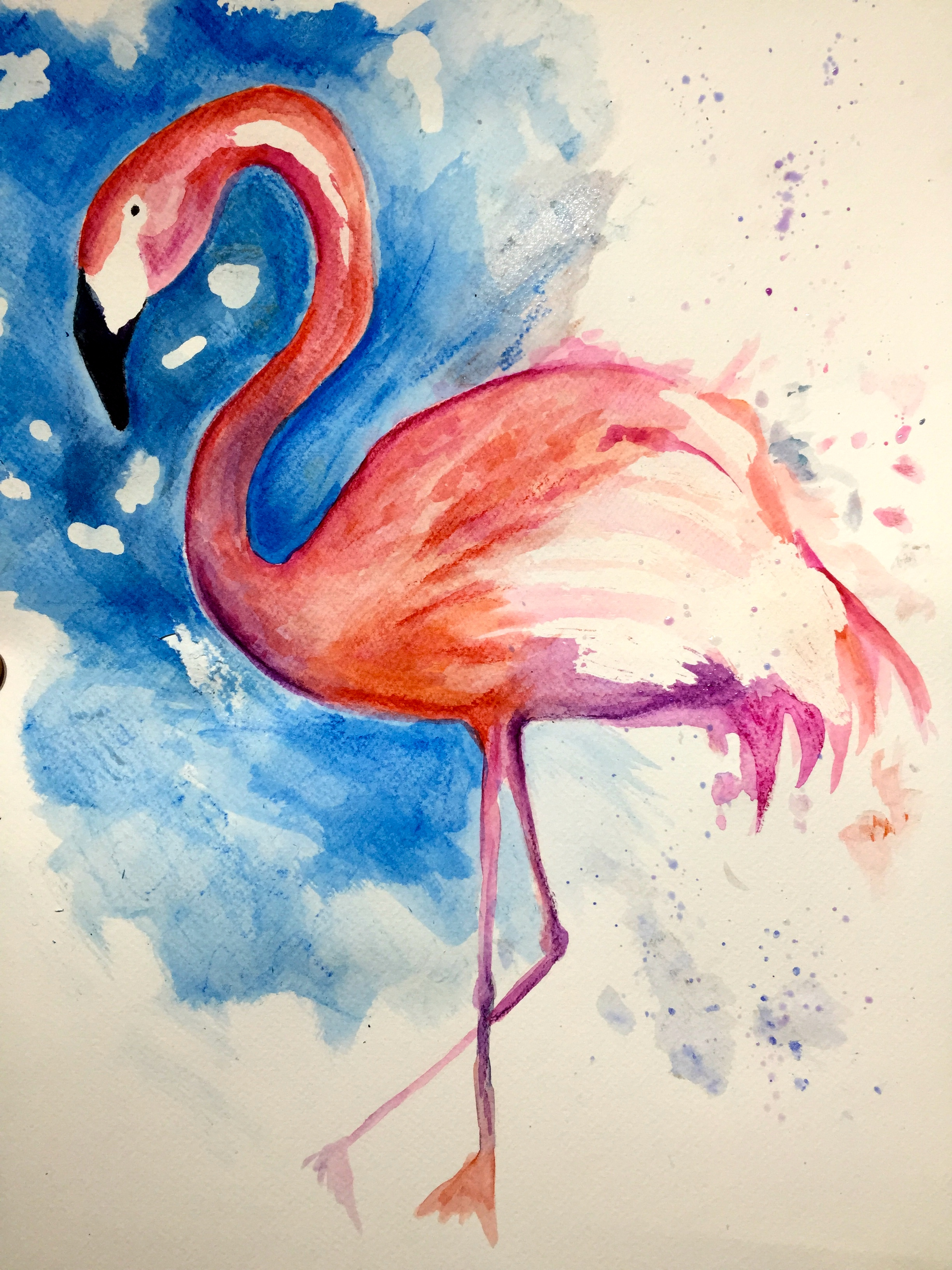 watercolour with masking fluid