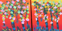 Palette knife acrylic on canvas