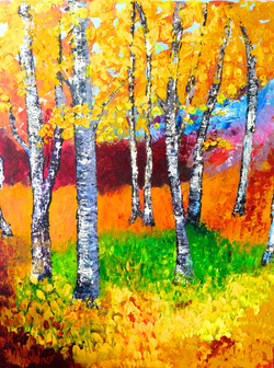 acrylic and oil on canvas