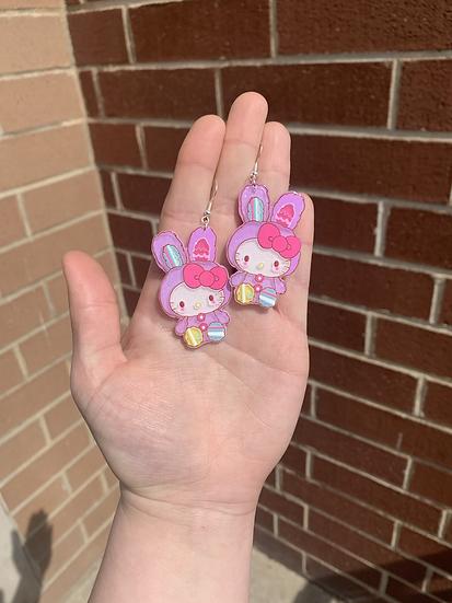 Hello Kitty Easter Bunny Earrings