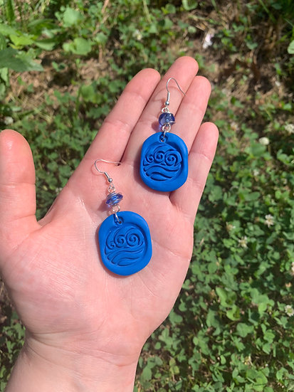 Waterbender Clay Earrings