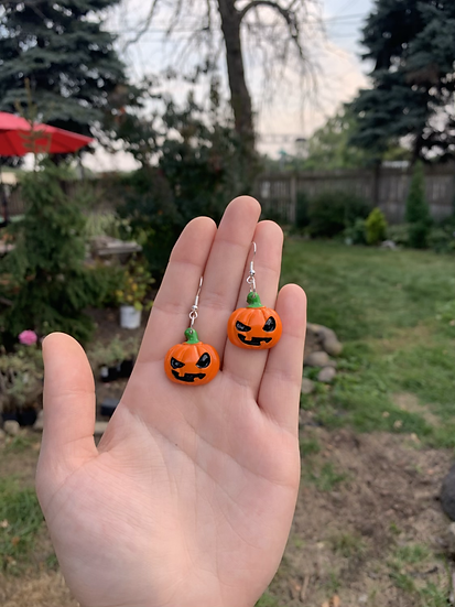 Spooky Jack-o-Lantern Earrings