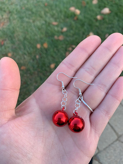 Red Shining Miniature Ornaments