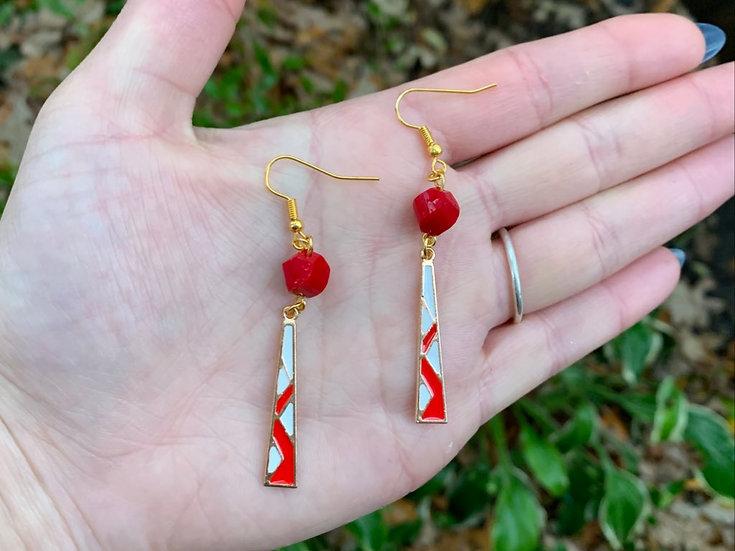 Beaded Mosaic Earrings