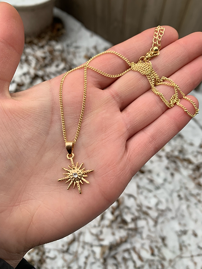 Gold Celestial Star Necklace