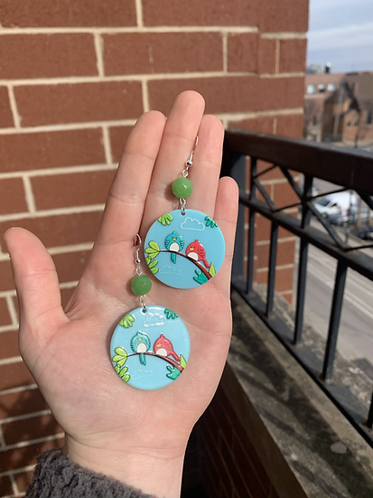 Two Birds of a Feather Earrings